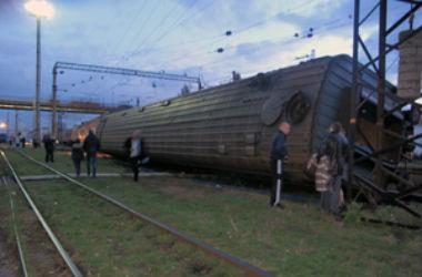 В Запорожье с рельсов сошёл пассажирский поезд