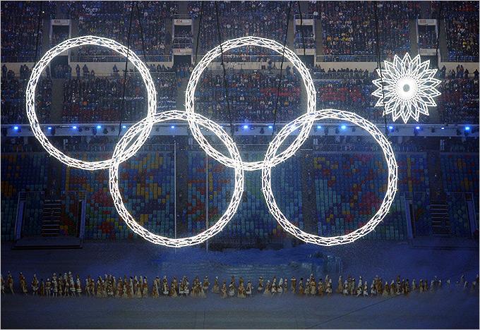 какого цвета олимпийские кольца