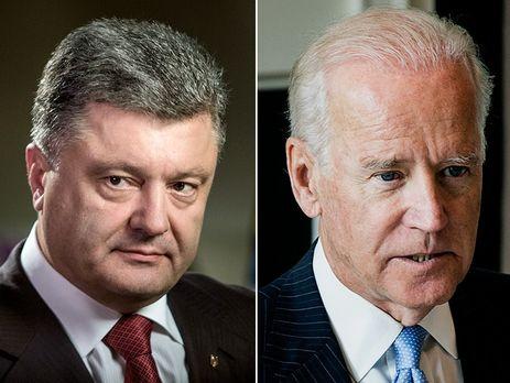 Порошенко обсудил с Байденом усиление санкций в отношении РФ