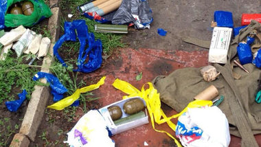 У подозреваемого в обстреле здания в Константиновке найден арсенал оружия