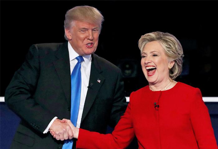 По результатам опроса в дебатах победила Клинтон