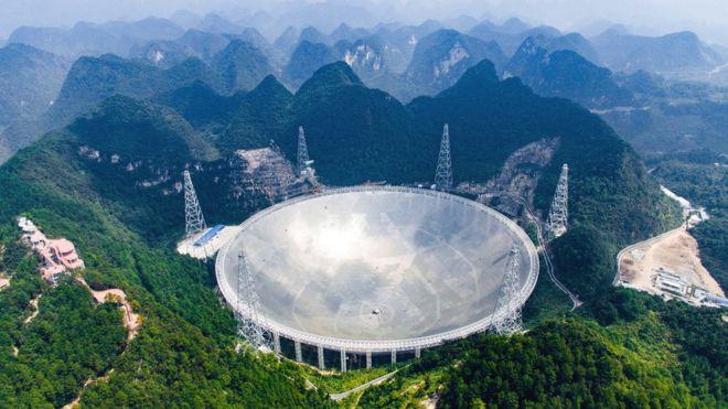 В Китае запустили в работу самый крупный в мире радиотелескоп