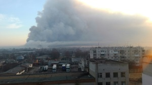 Гройсман: склад боеприпасов в Балаклее уничтожен наполовину