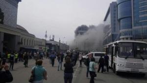 В Москве около Киевского вокзала произошел масштабный пожар, есть жертвы
