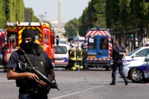 Водитель, протаранивший в Париже полицейский фургон, погиб