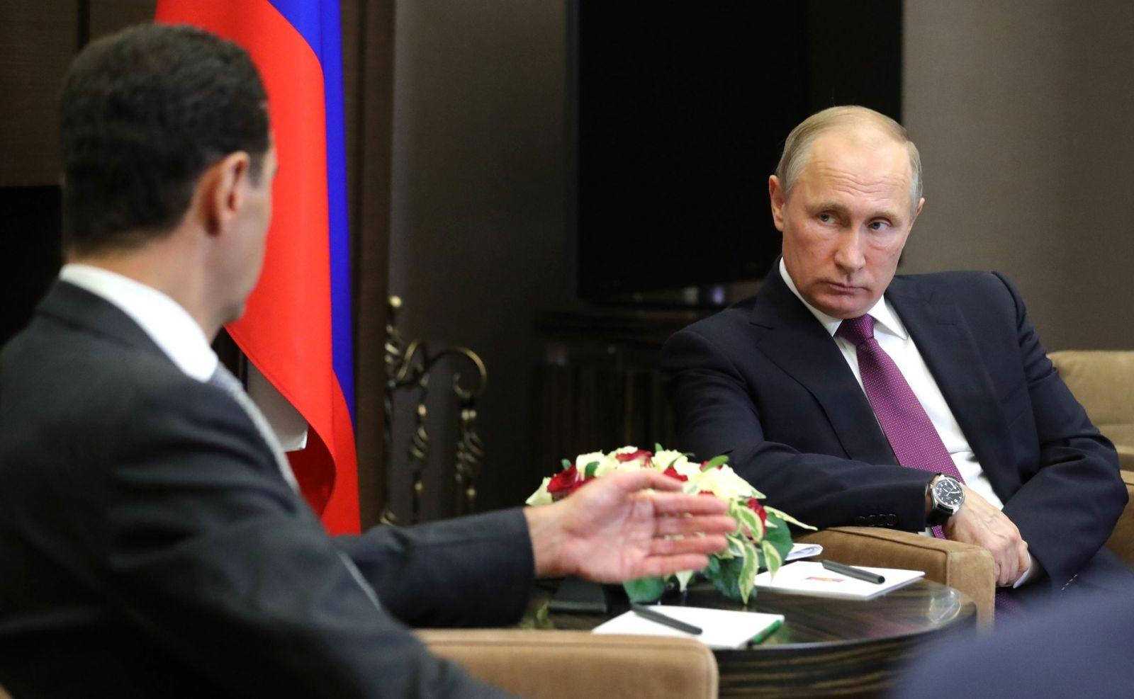 В Сочи состоялась встреча Путина и Асада