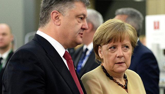 Между Меркель и Порошенко состоялся телефонный разговор