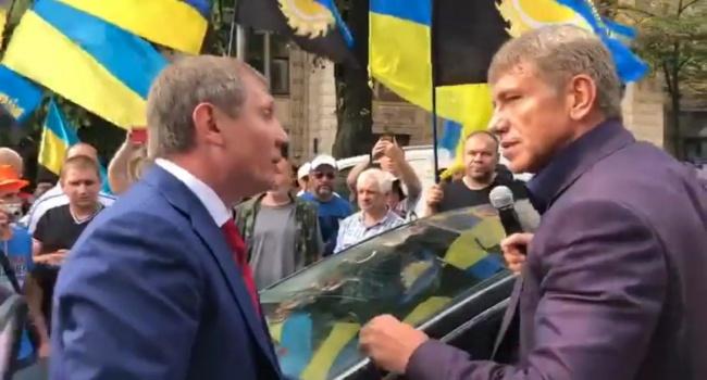 Между министром Насаликом и нардепом Шаховым произошла потасовка