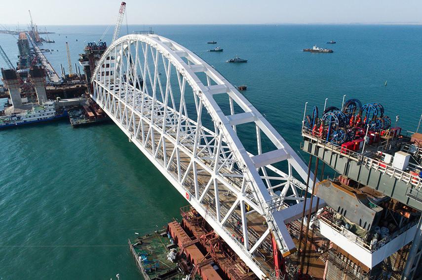 Шесть компаний, строившие мост в Крыму, попали под санкции Евросоюза